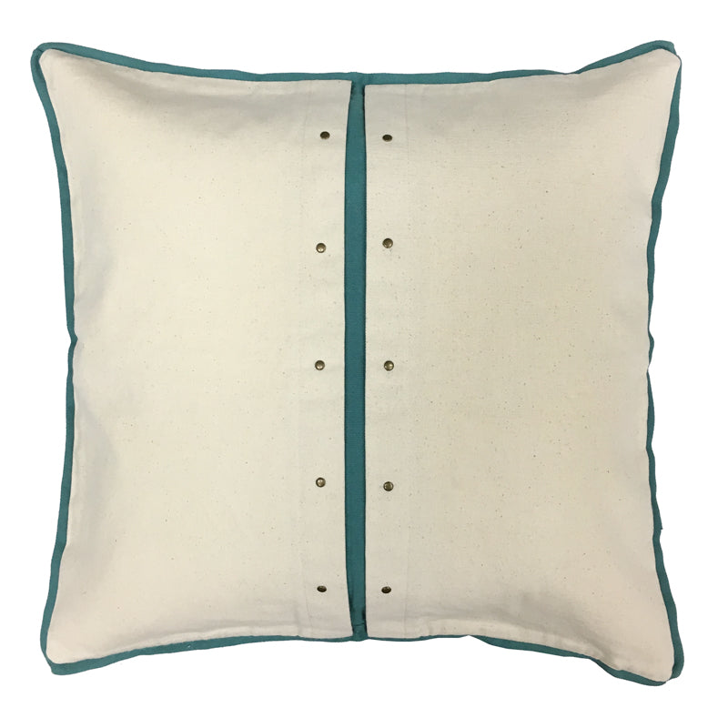 Caine Pillow | Size 20X20 | Color Natural/Spa