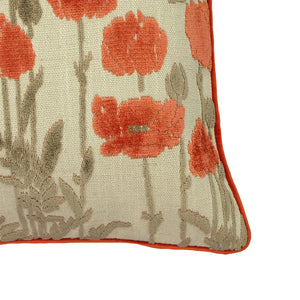 Camelia Pillows | Size 23X23 | Color Coral