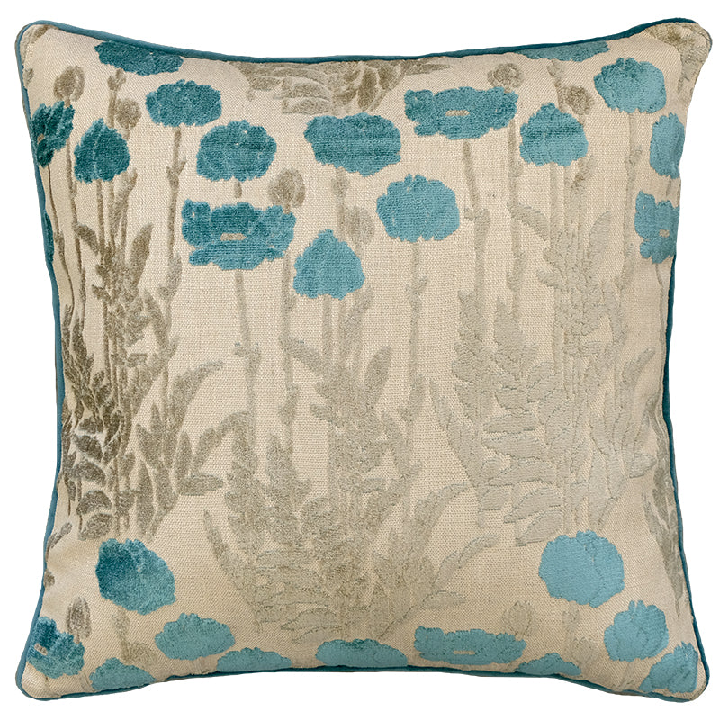 Camelia Pillows | Size 23X23 | Color Turquoise