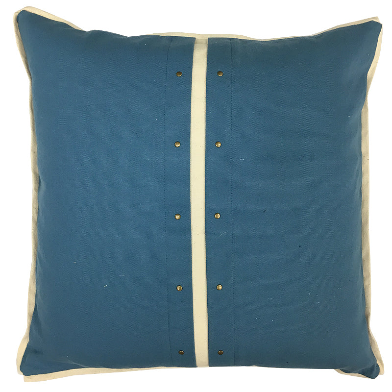 Chloe Pillow | Size 20X20 | Color Ocean/Natural