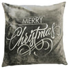 Christmas Met Pillow | Size 20x20 | Color Silver/Silver
