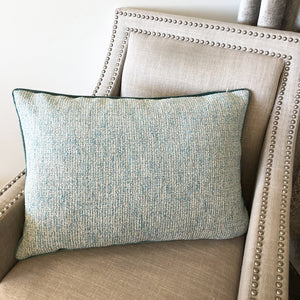 Cody Pillow | Size 18X26 | Color Aqua