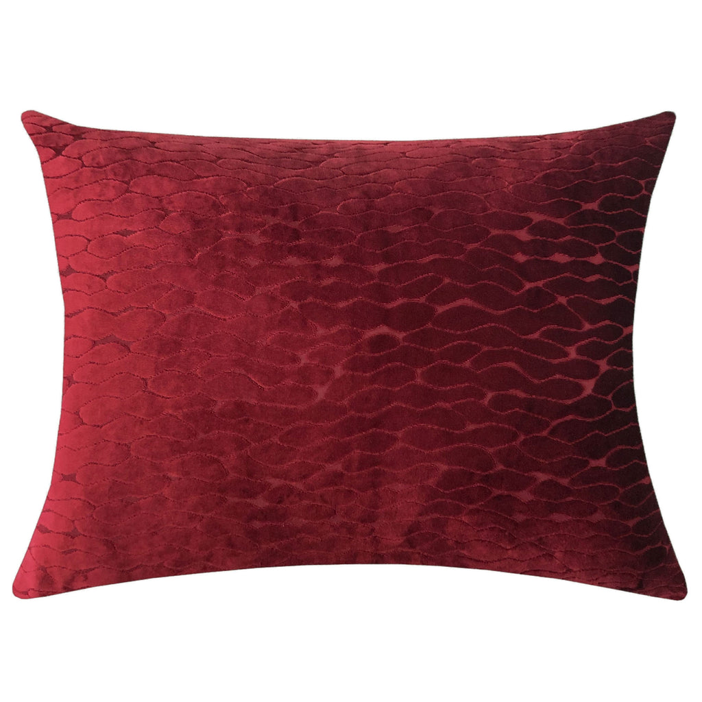 Costella Pillows | Size 18X24 | Color Wine