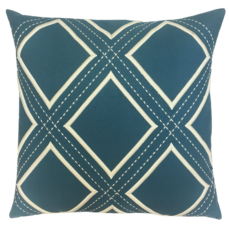 Darcy Pillow | Size 20X20 | Color Ocean/Ivory