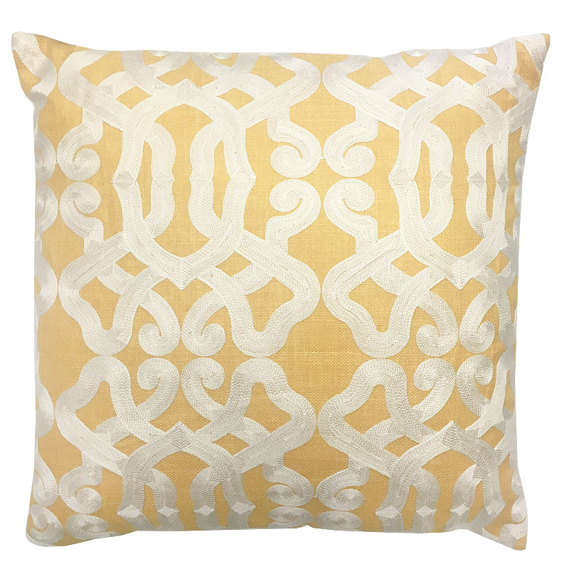 Dexter Pillow | Size 20X20 | Color Canary
