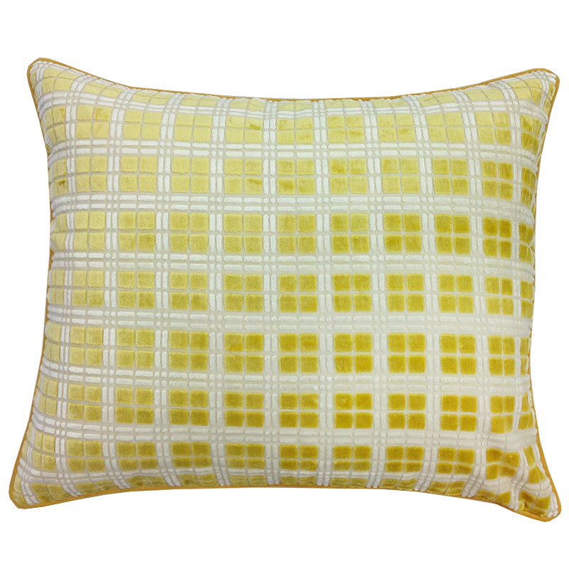 Domino Pillow | Size 20X24 | Color Canary