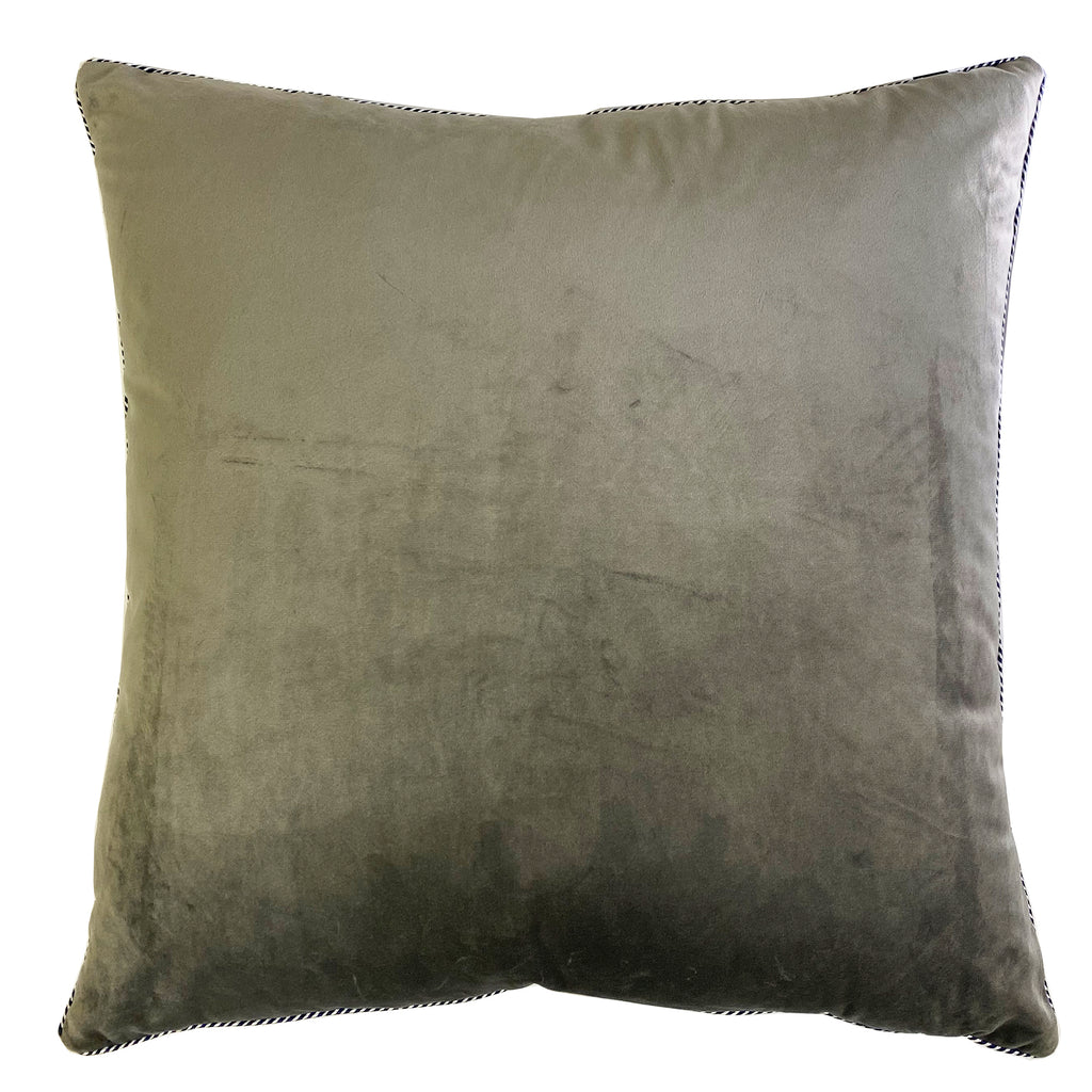 Elena Pillow | Size 20X20 | Color Gray
