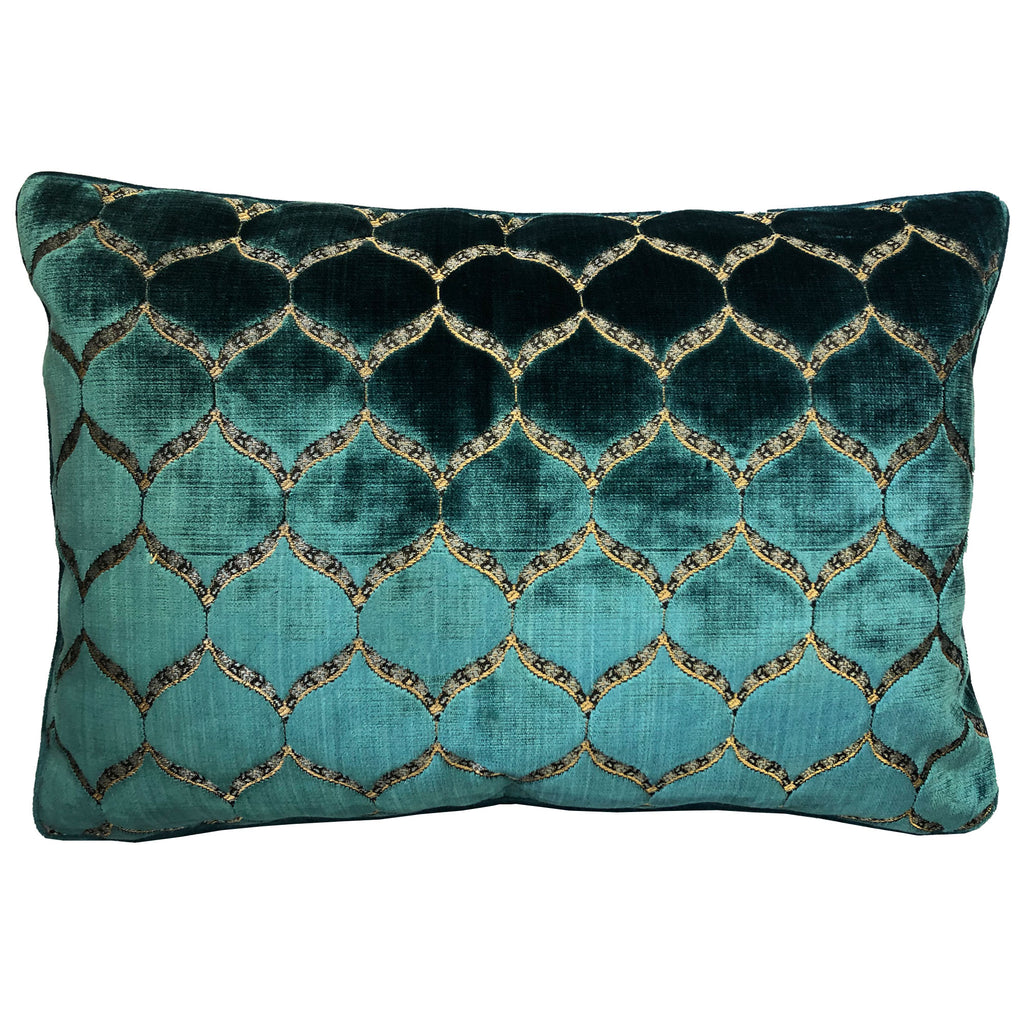 Eliza Pillows | Size 18X26 | Color Cerulean