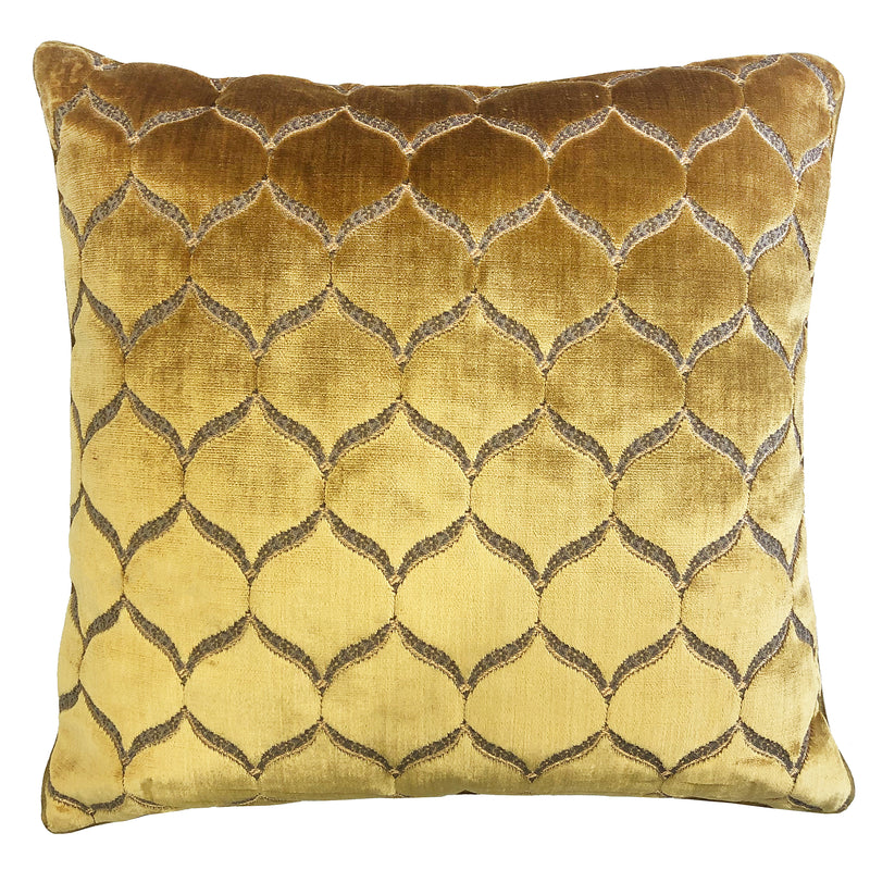 Eliza Pillows | Size 23X23 | Color Gold