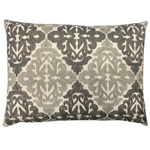 Fleur Pillow | Size 18x24 | Color Gray