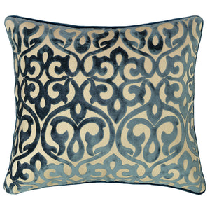 Genevieve Pillows | Size 18X20 | Color Ocean