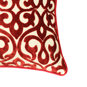 Genevieve Pillows | Size 18X20 | Color Red