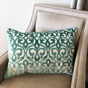 Georgia Pillow | Size 18X26 | Color Turquoise
