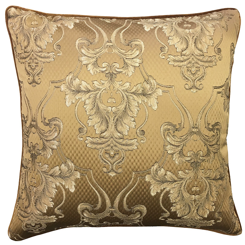 Giovani Pillow | Size 24X24 | Color Brass