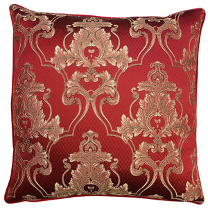 Giovani Pillow | Size 24X24 | Color Crimson