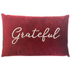 Grateful Pillow | Size 16X26 | Color Red