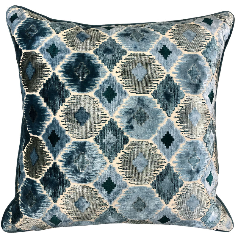 Gretty Pillows | Size 23X23 | Color Cerulean
