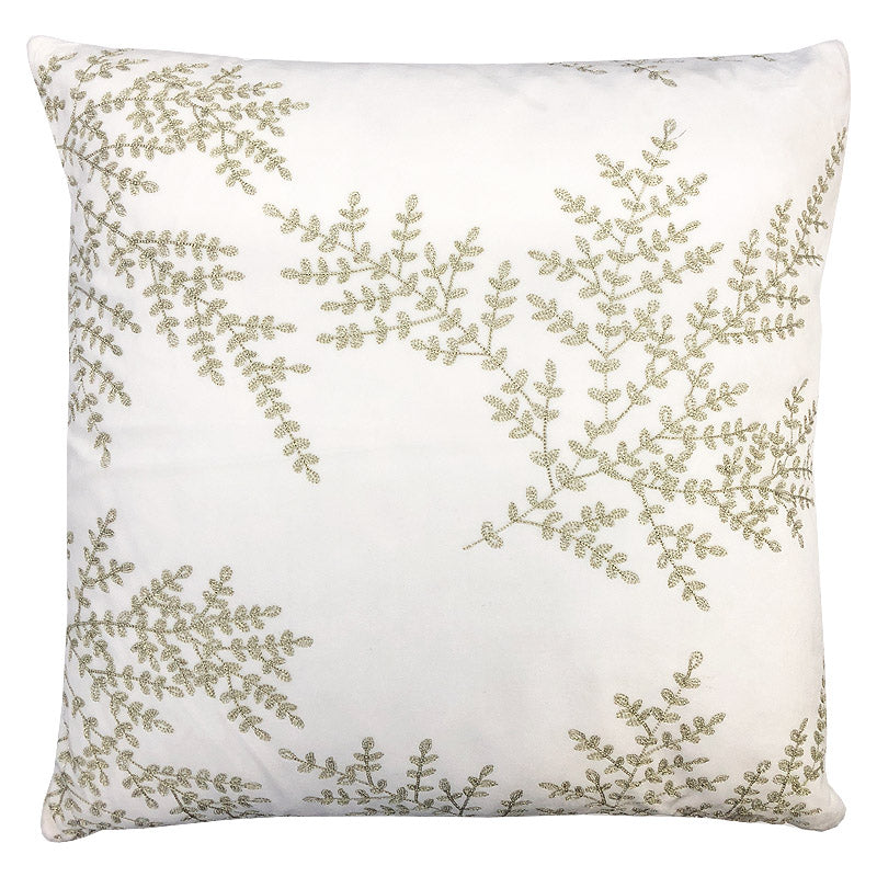 Jaz Pillow | Size 20X20 | Color White/Gold