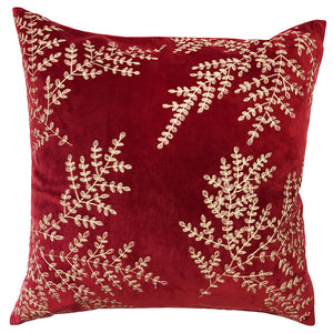 Jaz Pillow | Size 20X20 | Color Scarlet/Gold
