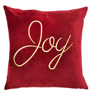 Joy Pillow | Size 20x20 | Color Scarlet/Gold