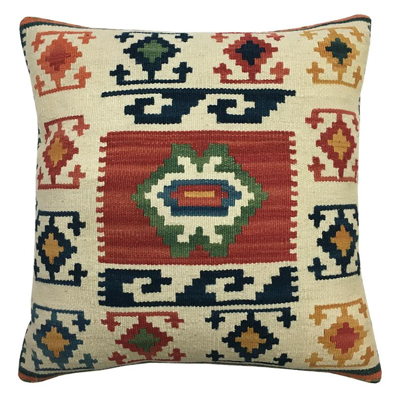 Kilim Pillow | Size 16X16 | Color Multi