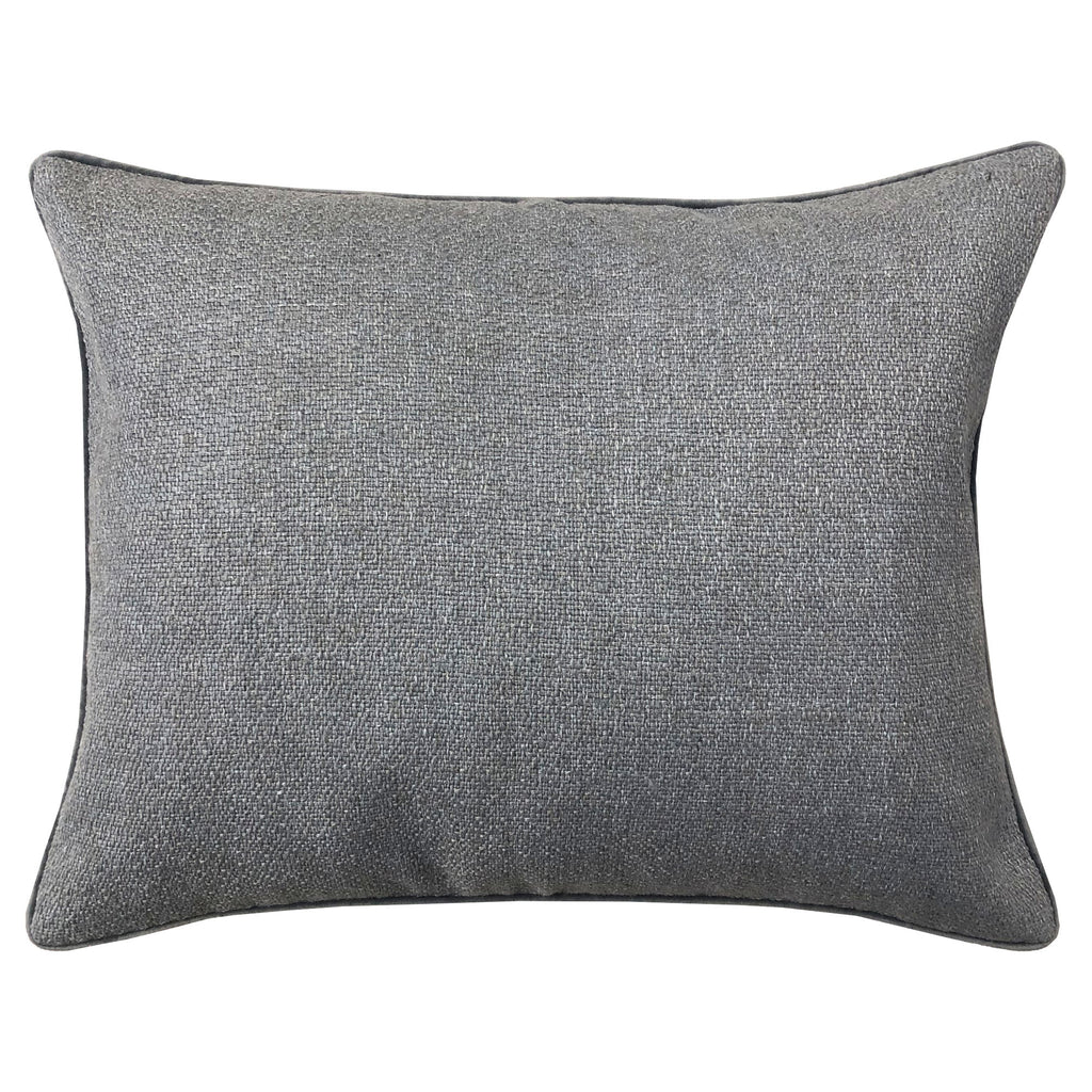 Leandra Pillow | Size 18X22 | Color Gray