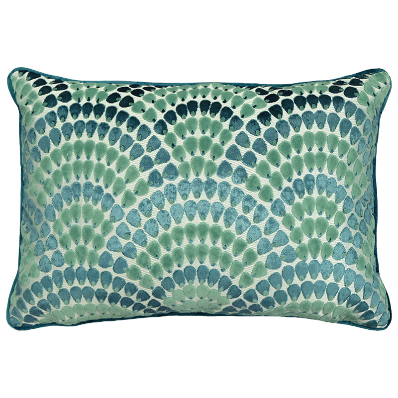 Lennix Pillow | Size 18X26 | Color Peacock