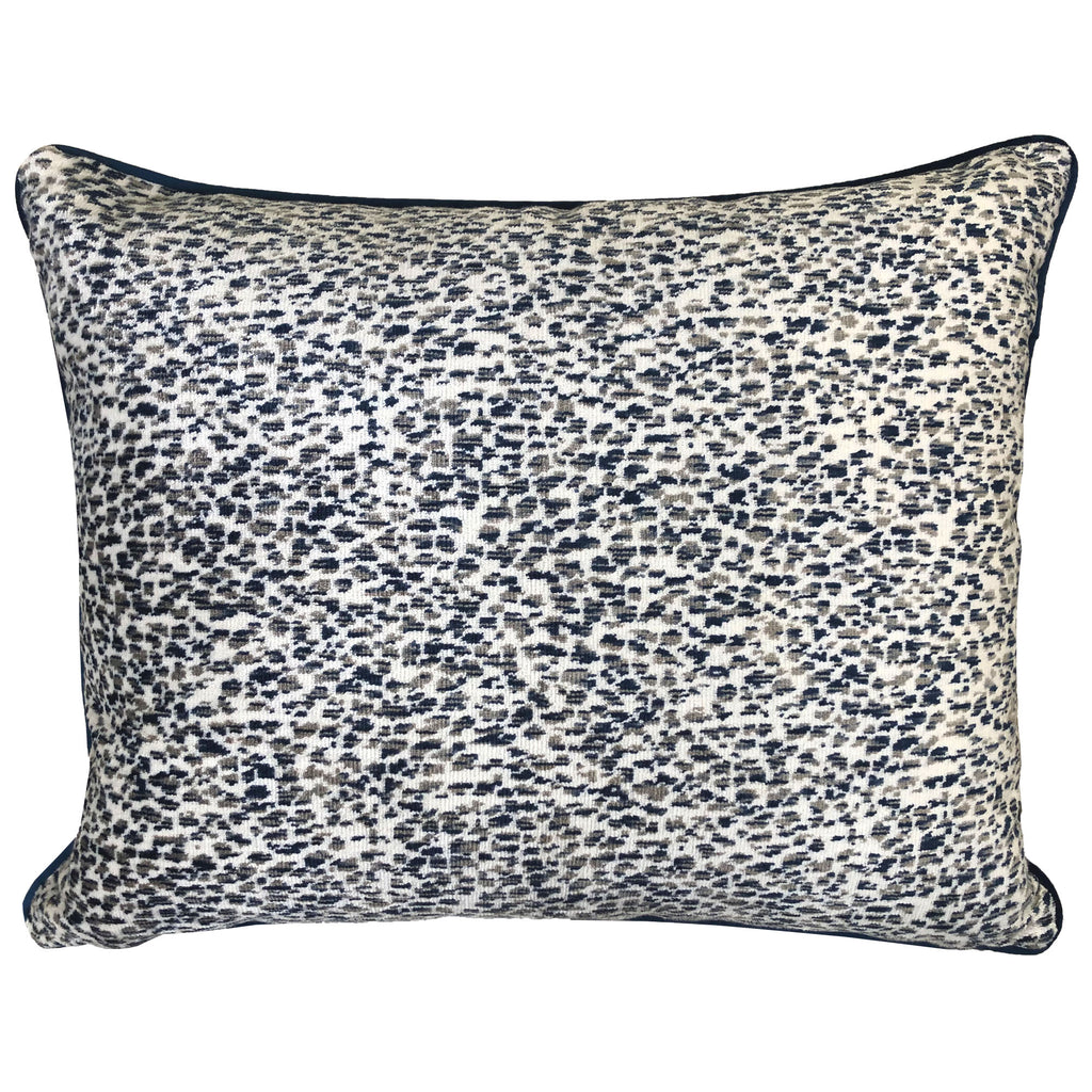 Lepard Pillow | Size 18X22 | Color Navy