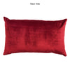 Let It Snow Pillow | Size 16x26 | Color Scarlet/Gold