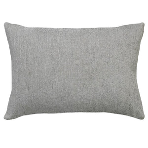 Let's Stay Home Embroidery on Cashio Pillow | Size 14X20 | Color Silver
