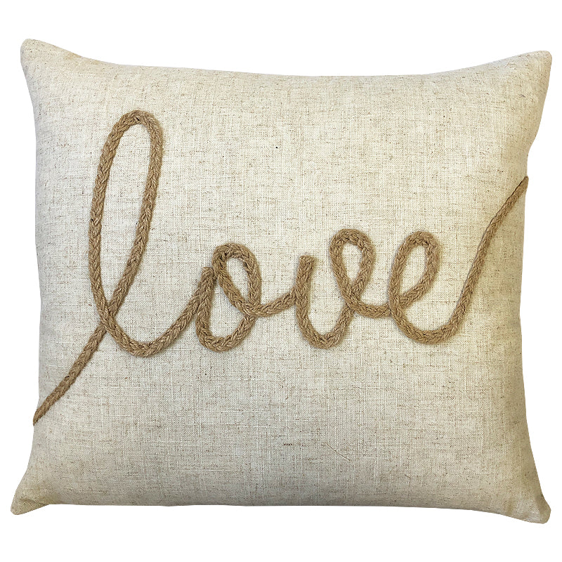 Love Linen Pillow | Size 18X20