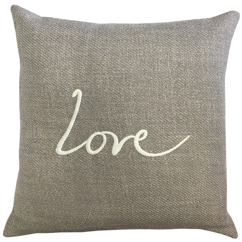 Love Raider Pillow | Size 20X20 | Color Pewter