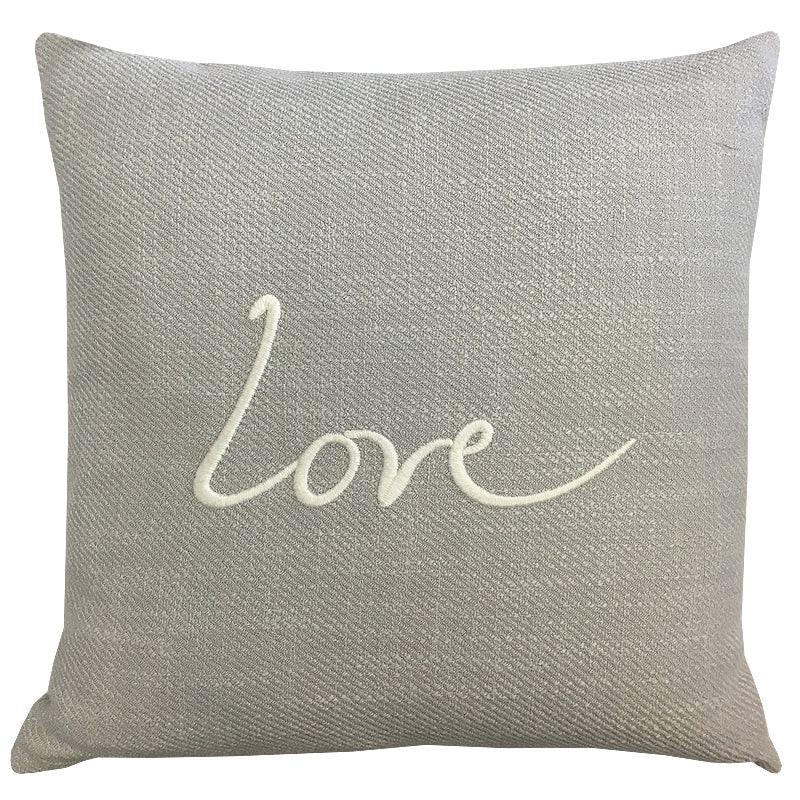 Love Raider Pillow | Size 20X20 | Color Silver