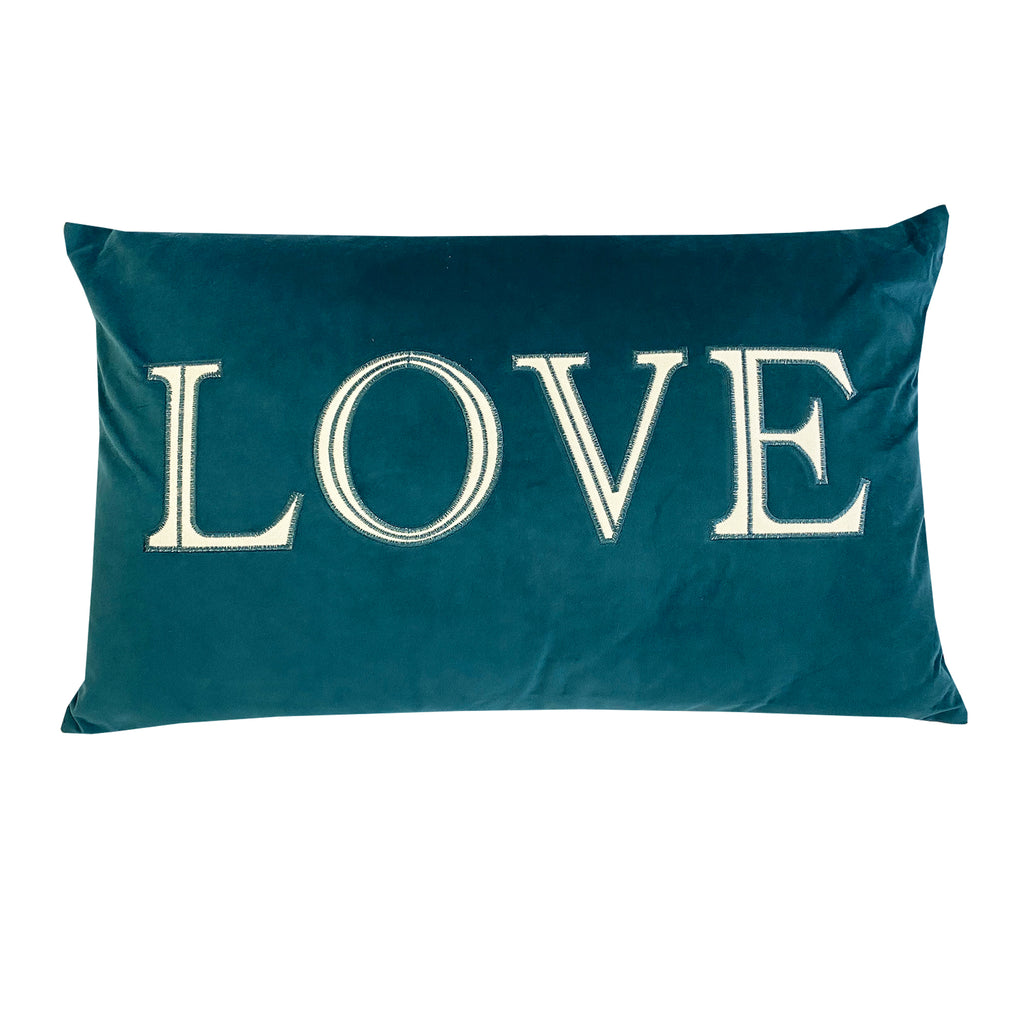Love Wayne Pillow | Size 16X26 | Color Cerulean