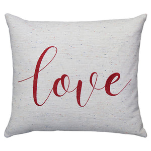 Love Embroidery Pillows | Size 18X20 | Color Red