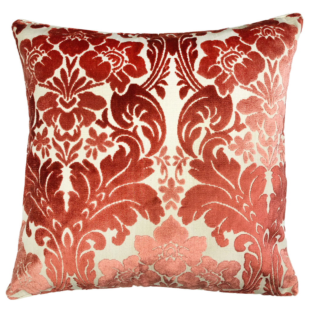 Marsel Pillows | Size 23X23 | Color Coral