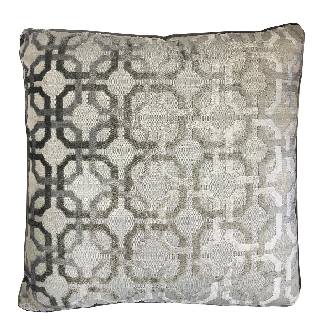 Martina Pillow | Size 23X23 | Color Silver