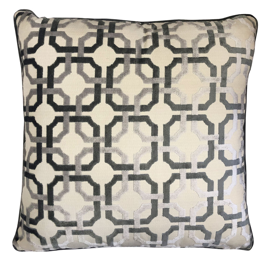 Martina Pillow | Size 23X23 | Color Gray
