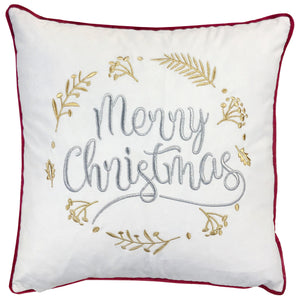 """Merry Christmas"" Embroidery Pillows 