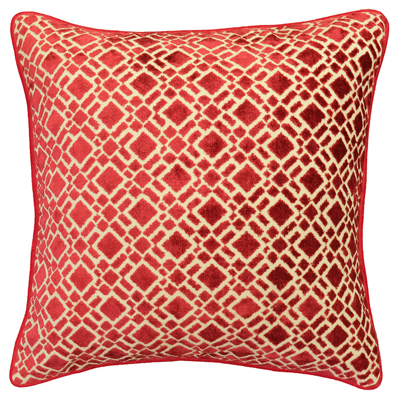 Nala Pillows | Size 20X20 | Color Red