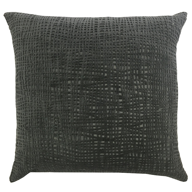 Olga Pillow | Size 20X20 | Color Charcoal