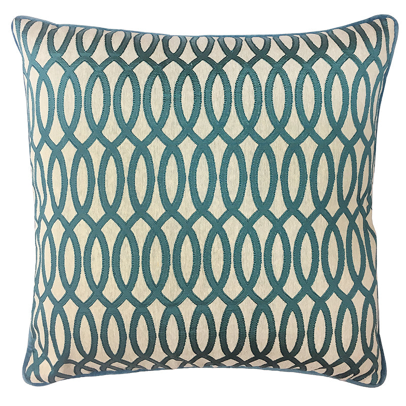 Penny Pillow | Size 20X20 | Color Peacock