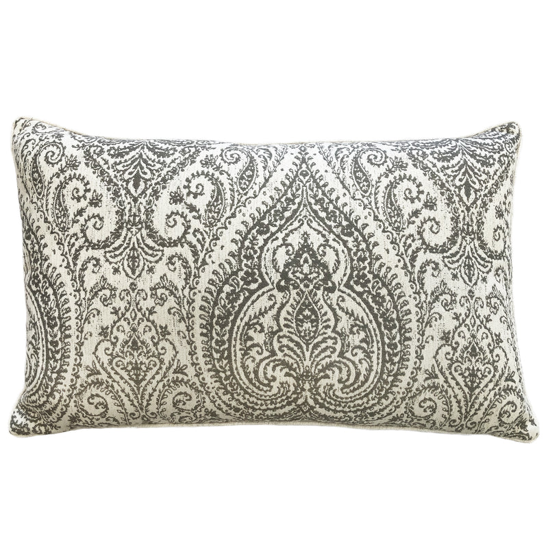 Polina Pillow | Size 16X26 | Color Gray