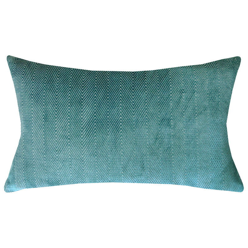 Rachel Pillows | Size 16X26 | Color Peacock