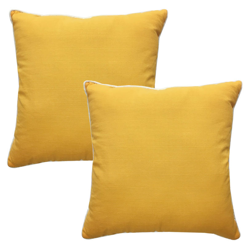 Rhodes Pillow | Size 20X20 | 2-Pack | Color Canary