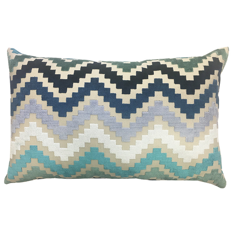 Shaw Pillow | Size 16X26 | Color Turquoise