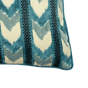 Sienna Pillow | Size 24X24 | Color Peacock