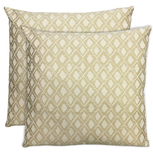 Stan 2 Pack Pillows | Size 20X20 | Color Beige