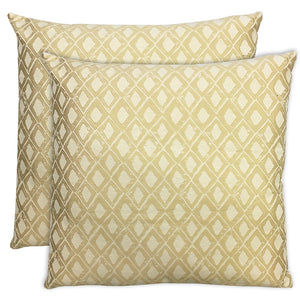 Stan 2 Pack Pillows | Size 20X20 | Color Butter