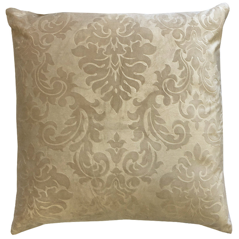 Suri Embossed Pillow | Size 20X20 | Color Mocha
